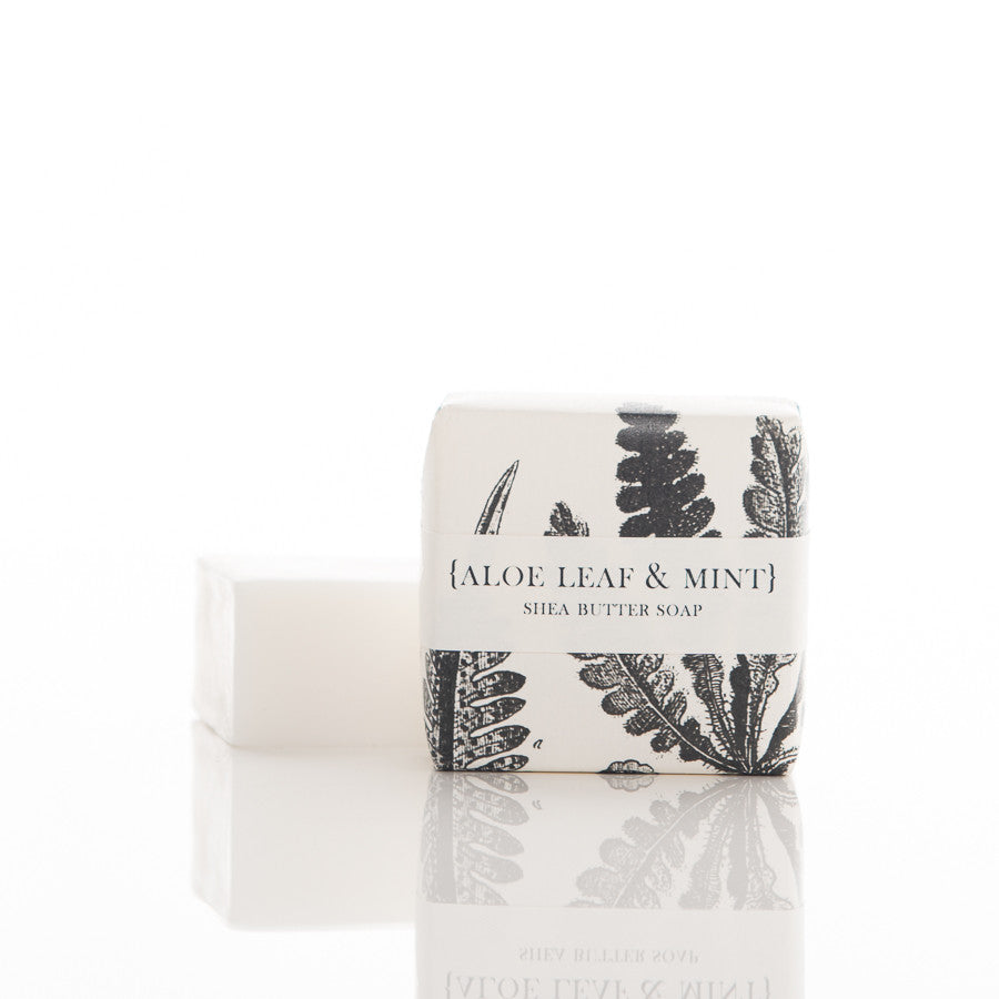 Shea Butter Soap - Aloe Leaf & Mint Guest  Bar