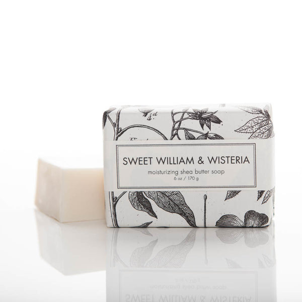 Shea Butter Soap - Sweet William & Wisteria Bath Bar