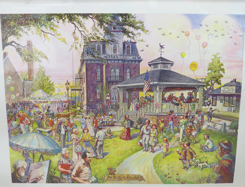 Richard Sedlon - Bedford Gazebo Print - Unsigned