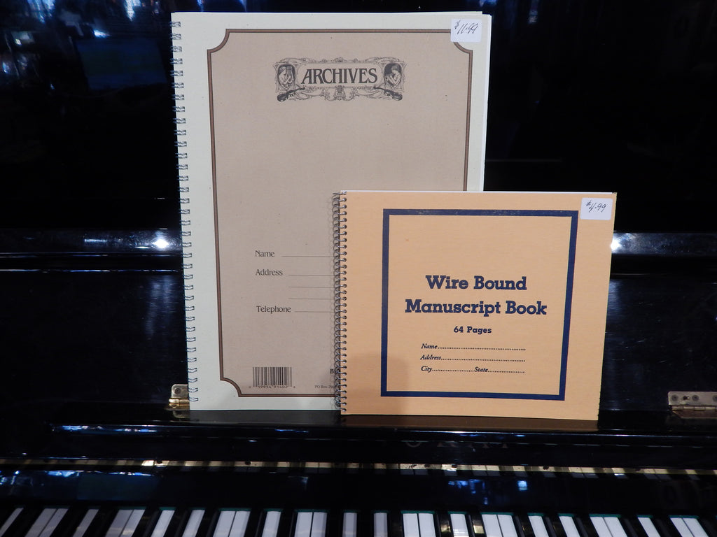 Music Notation Manuscript Notebook - 10 Stave