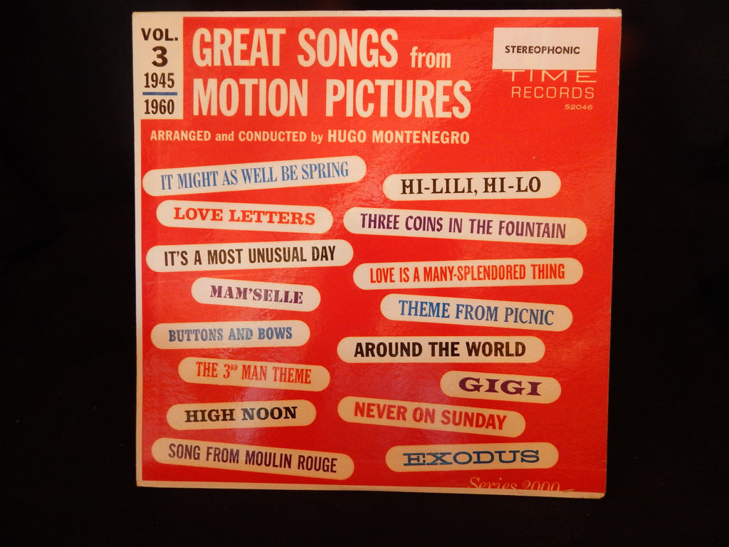 Great Songs From Motion Pitcures - Vol. 3 1945-1960 / Conducted by Hugo Montenegro