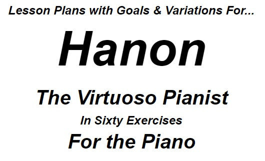Lesson Plan for Hanon Piano Studies 5 thru 9 (Dan Recommended) Instant Download Sheet Music