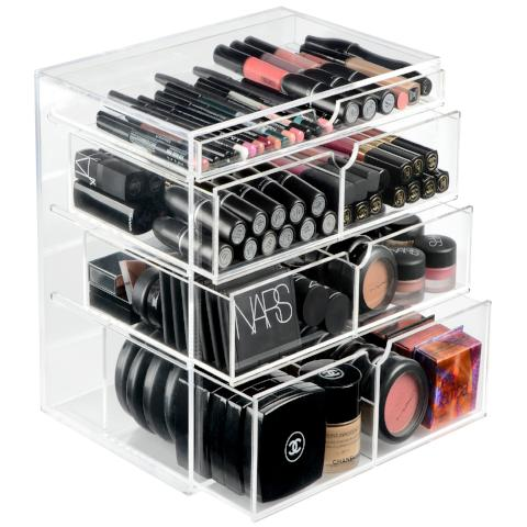 ORIGINAL BEAUTY BOX, Acrylic Makeup Organizer, Clear Makeup Storage Drawers