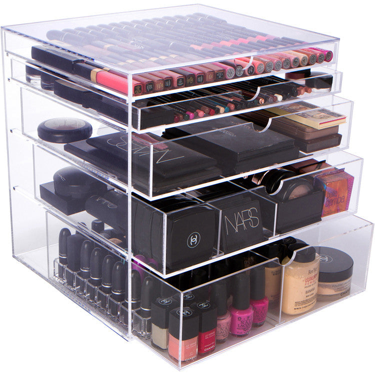 PRO BEAUTY BOX, Acrylic Makeup Organizer, Clear Makeup Storage Drawers ,  Extra Large ...