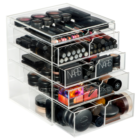 DELUXE BEAUTY BOX, Acrylic Makeup Organizer, Clear Makeup Storage