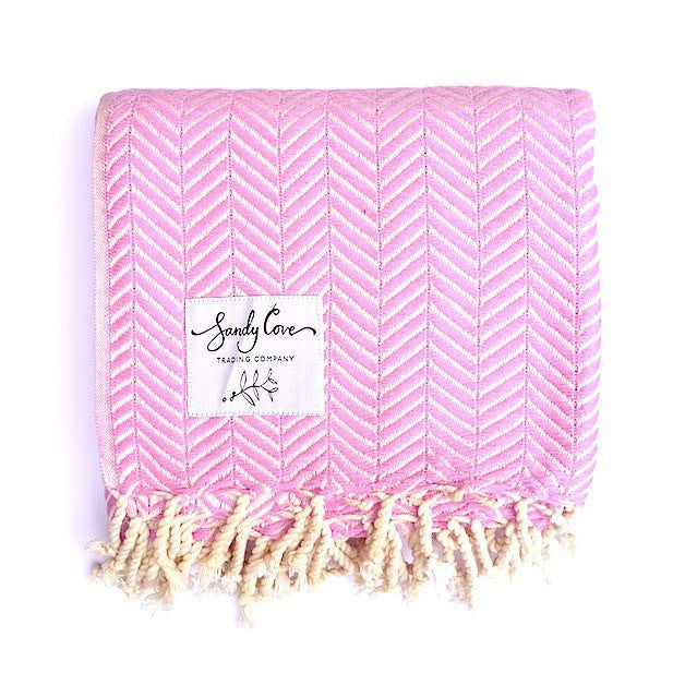 Travel Towels - Luxe Traveller - Turkish Towel - Fairy Floss