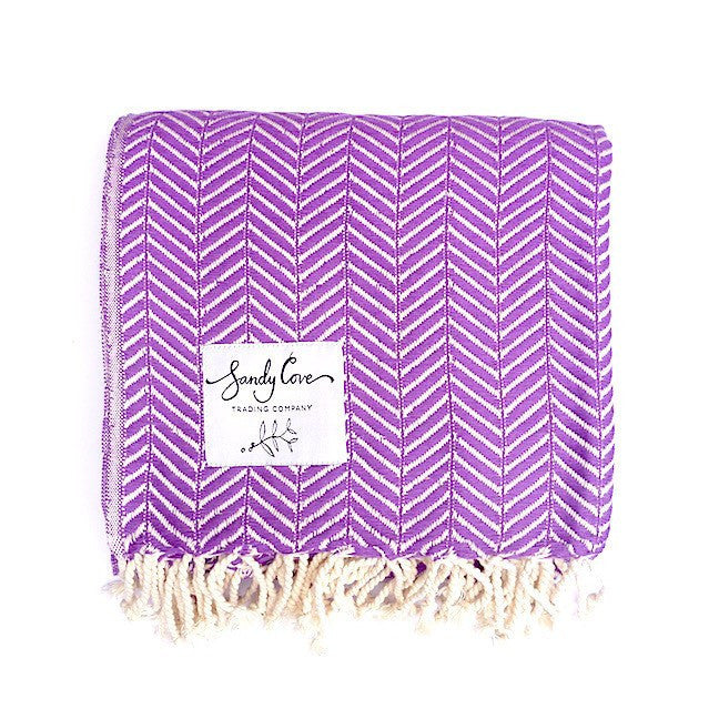 Travel Towels - Luxe Traveller - Turkish Towel - Grape