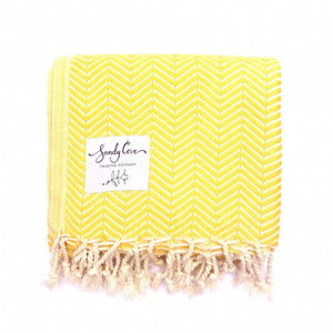 Travel Towels - Luxe Traveller - Turkish Towel - Lemon