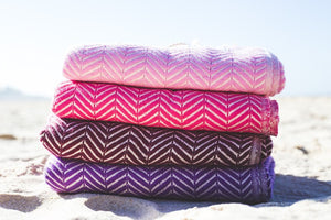 Travel Towels - Luxe Traveller - Turkish Towel - Rhubarb Red