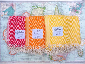 Travel Towels - Luxe Traveller - Turkish Towels - Set Of 2 - SAVE 10%