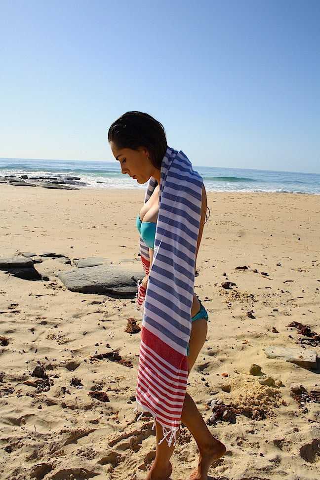 Travel Towels - Original Traveller - Turkish Towel - Nautical