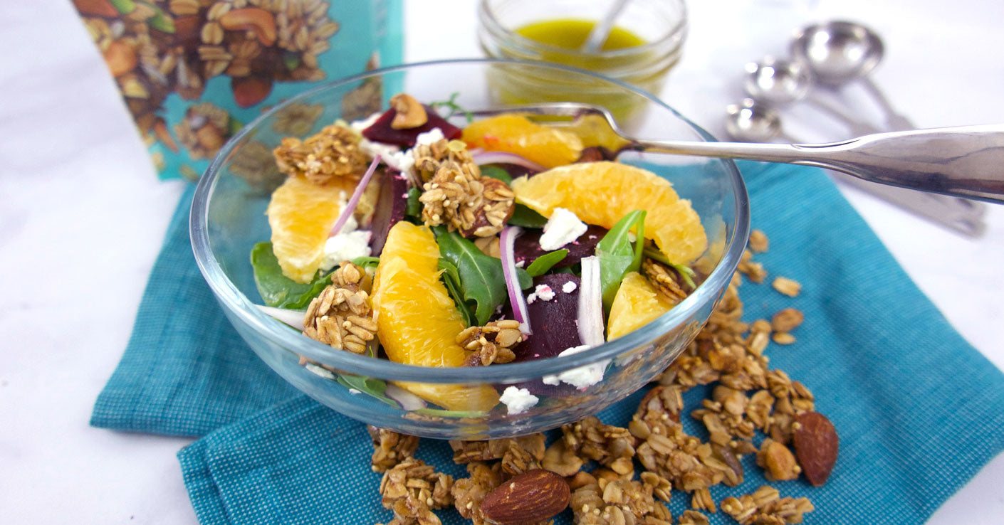 Sweet Beet Winter Salad with Sprouted Snacks