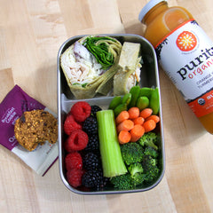 Turkey Wrap with Berries & Veggies Bento Box