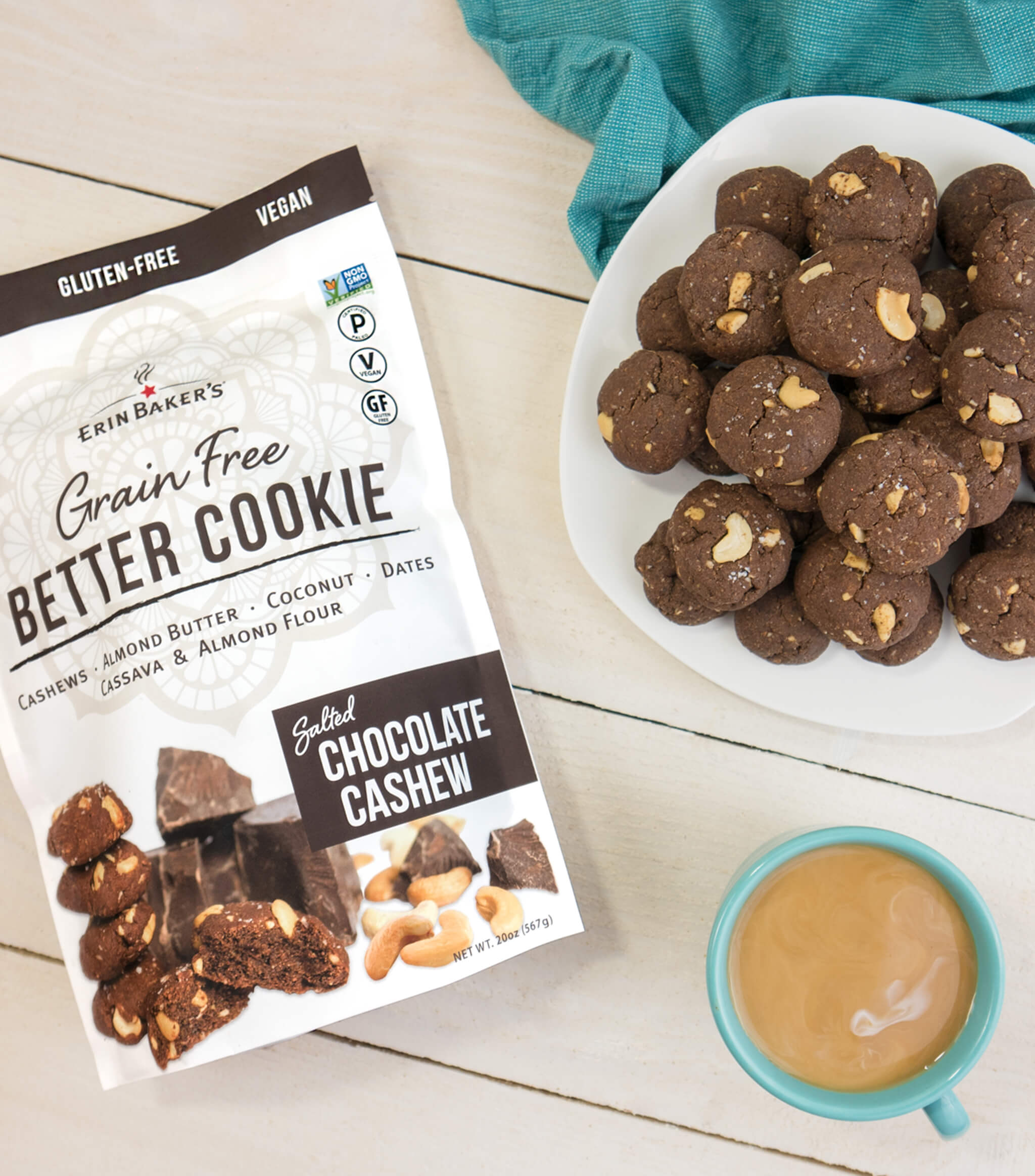 Grain Free Salted Chocolate Cashew Better Cookie