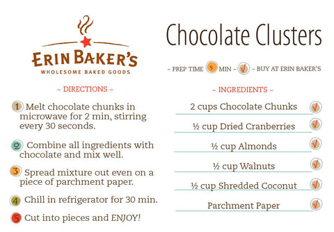 Chocolate Clusters Recipe Card