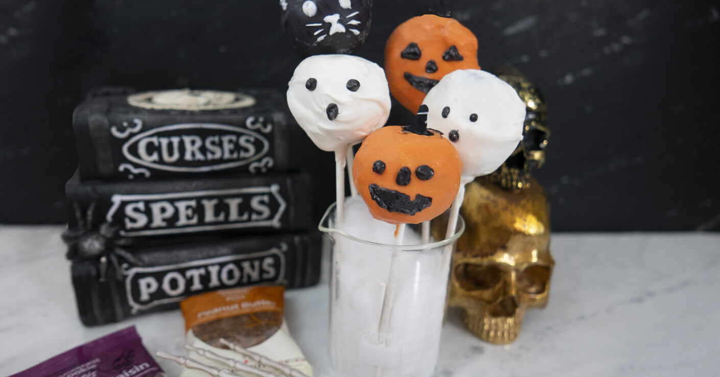 Halloween Breakfast Cookie Pops