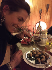 Erin Eating Escargot