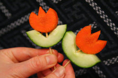 How to Make Vegetable Flowers