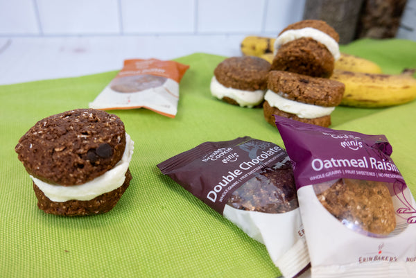 Mini Ice Cream Sandwiches with Breakfast Cookies