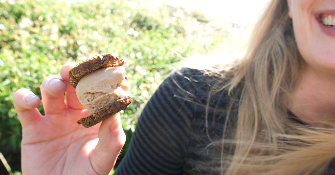 Peanut Butter Mini Nice Cream Sandwich