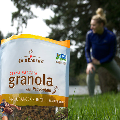 outdoor workout with Endurance Crunch Granola