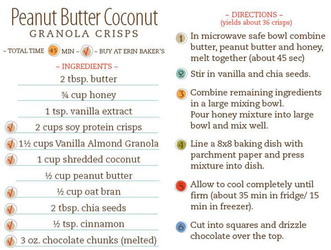 Peanut Butter Coconut Granola Crisps Recipe