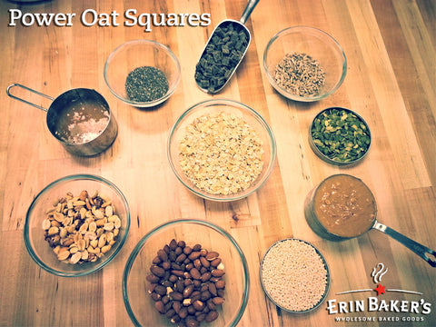 Power Oat Squares Ingredients