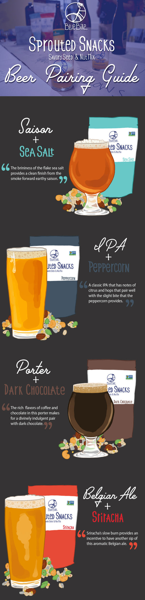 Sprouted Snacks Beer Pairing