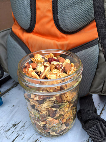 Trail Mix in mason jar