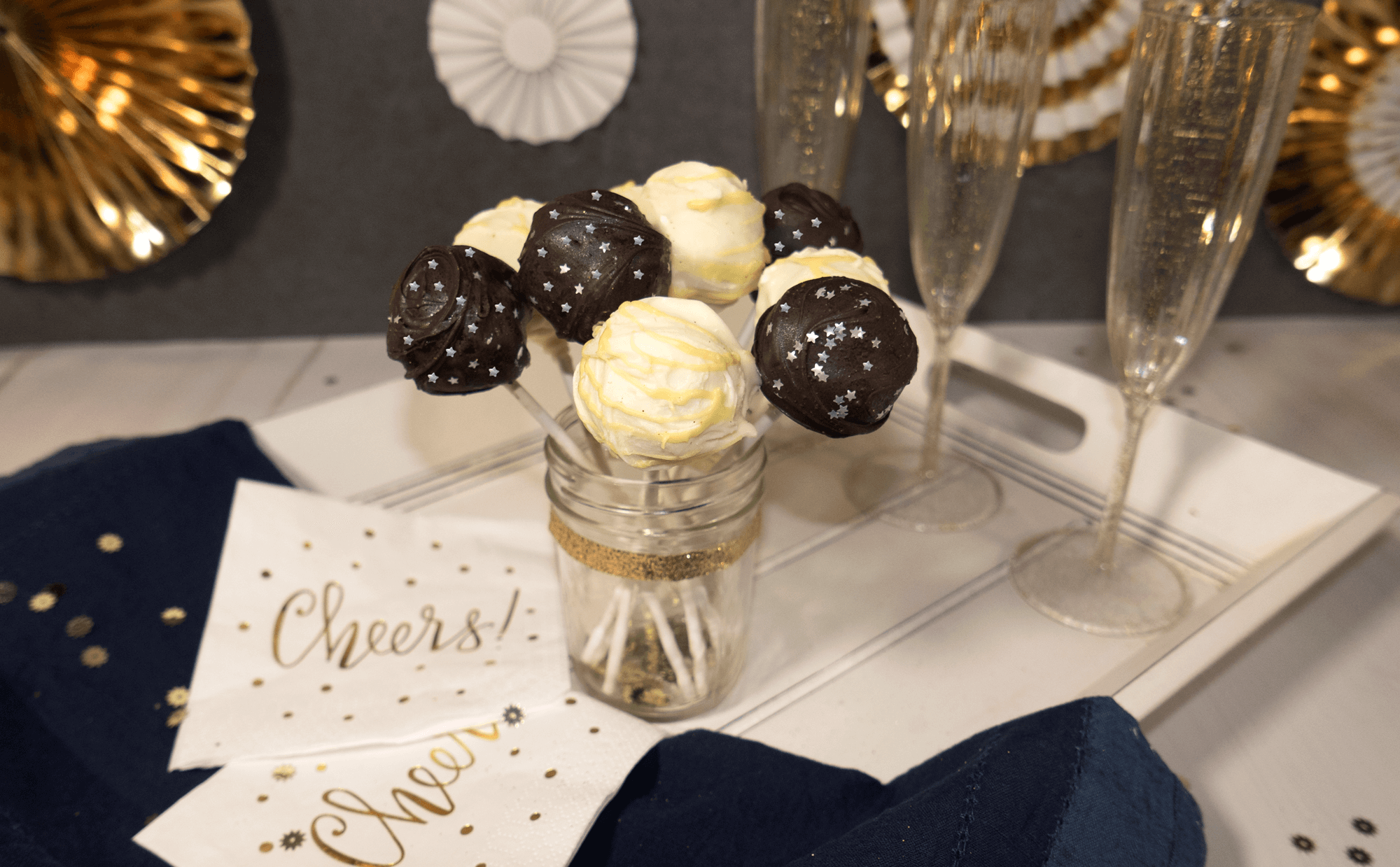 cake pops as new years dessert