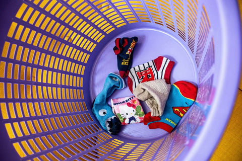 kids socks in basket