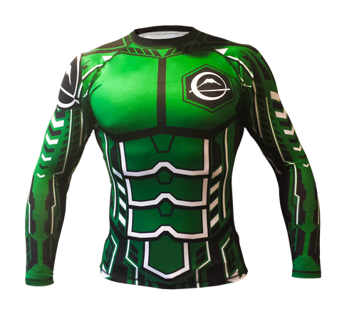 Fuji - ROBO Rash Guard Green, Rash Guards (Men) - BuyGis.com
