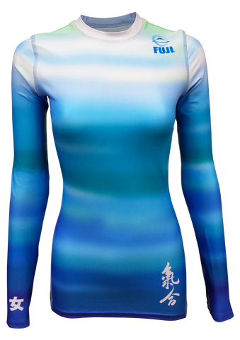 Fuji - Ladies Haiku Rashguard (Blue), Rash Guards (Ladies) - BuyGis.com