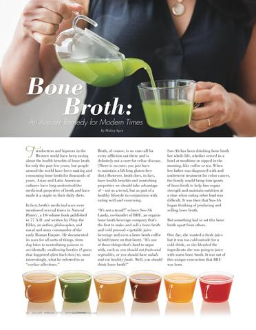 BRU featured in Simply Gluten Free article Bone Broth: An Ancient Remedy for Modern Times