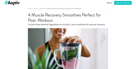 BRU included in 4 Muscle Recovery Smoothies Perfect for Post-Workouts