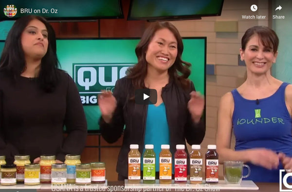 Dr. Oz votes BRU as Best New Health Idea of 2018!