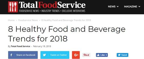 BRU listed as on of the 8 Healthy Food & Wellness Trends for 2018 by Mareya Ibrahim, The Fit Foodie
