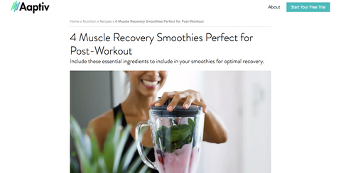 Muscle recovery smoothies
