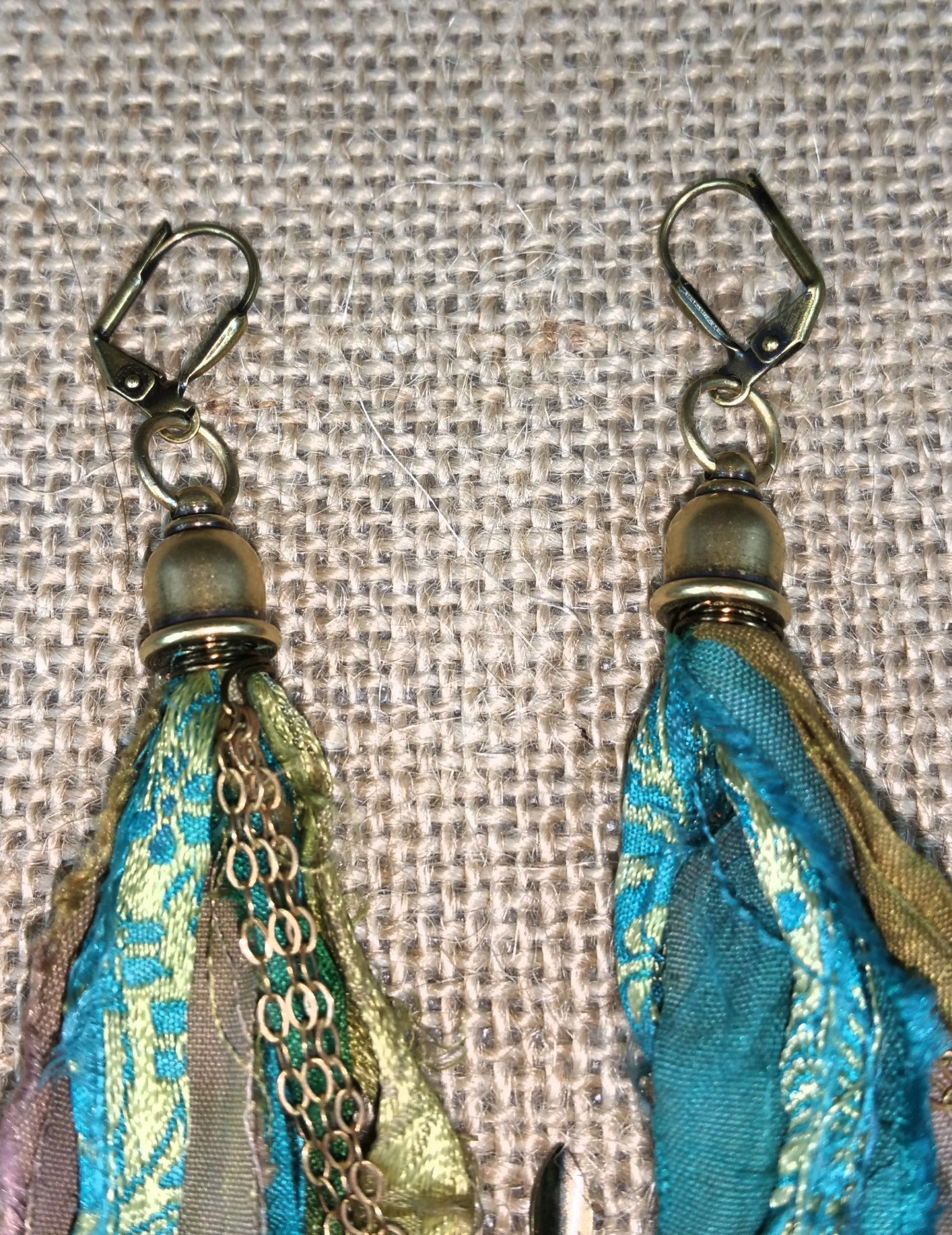 Golden Aqua Signature Tassel Earrings