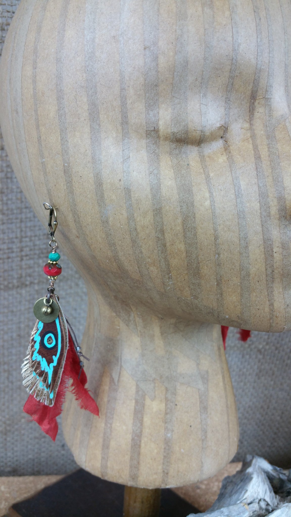 Gypsy Red Signature Leather Earrings