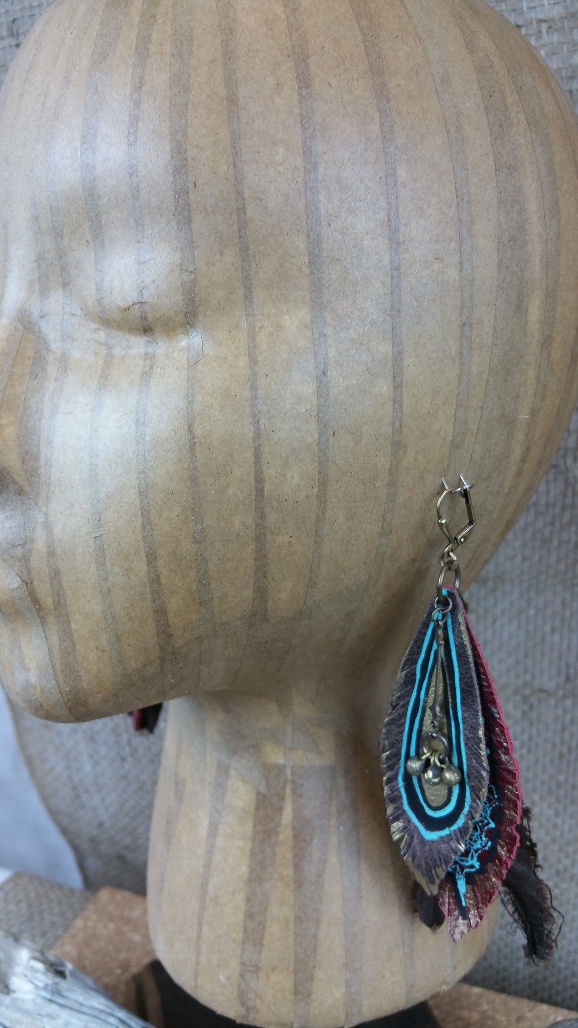 Earth Goddess Signature Leather Earrings