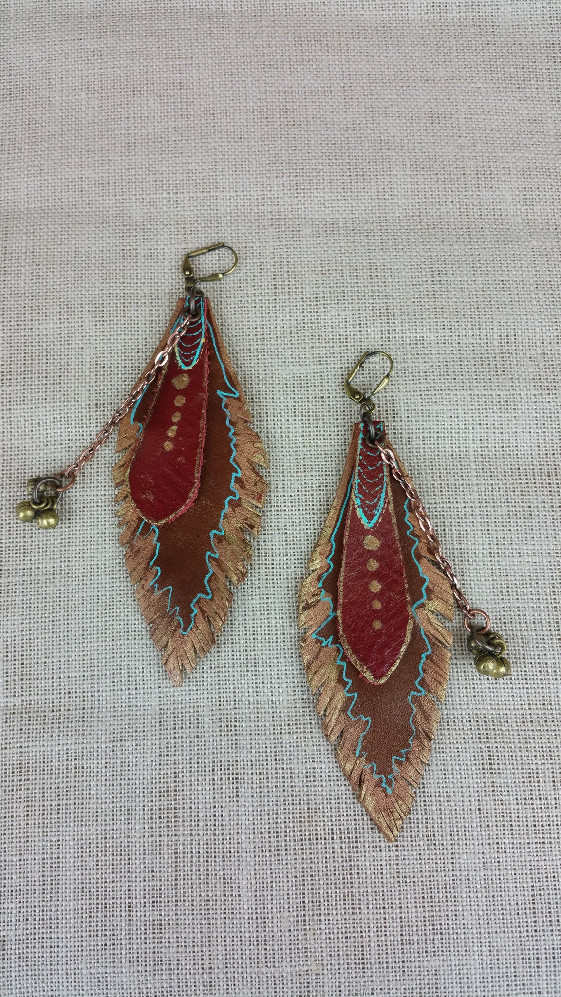 Sixties Spirit Signature Leather Earrings