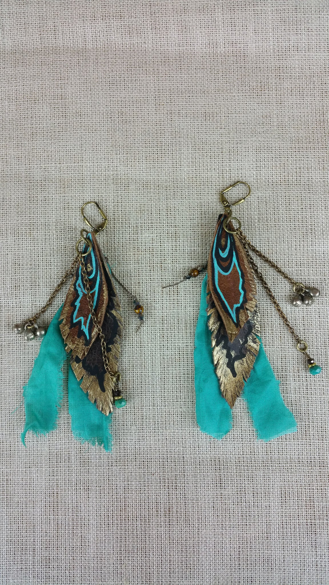 Turquoise Treasure Signature Leather Earrings