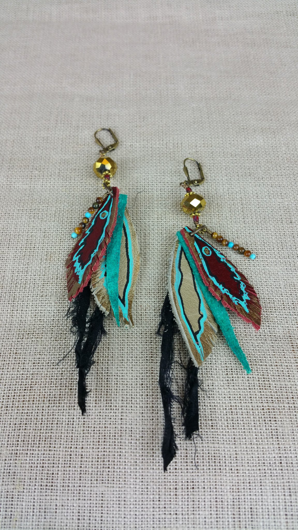 Warrior Princess Signature Leather Earrings