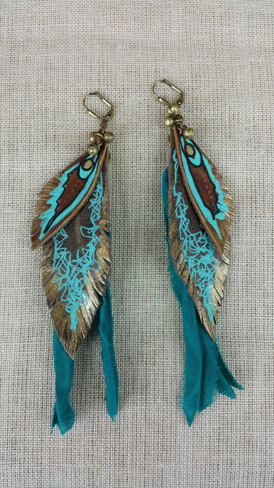Caribbean Seas Signature Leather Earrings