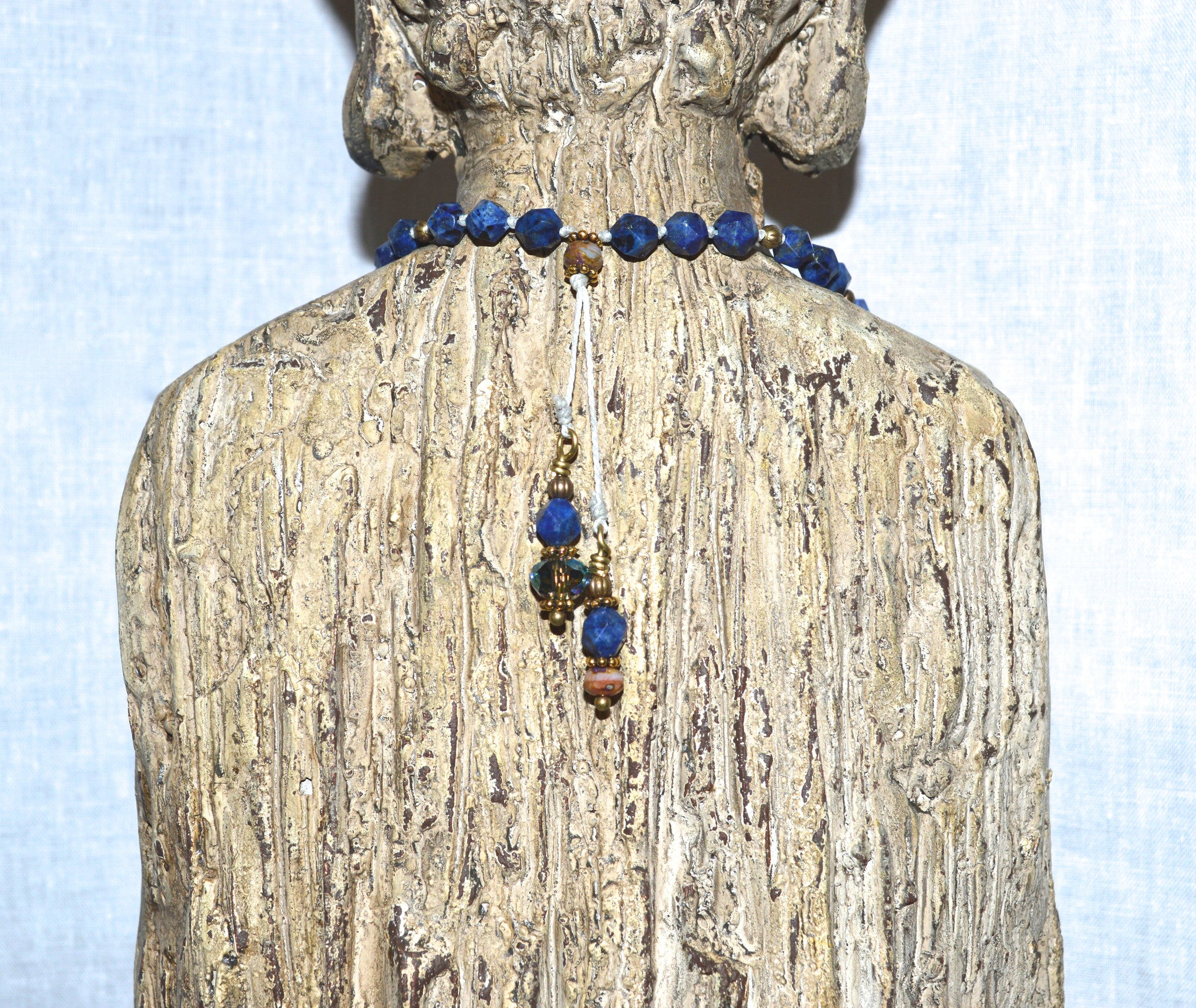 Lapis Love Beaded Necklace