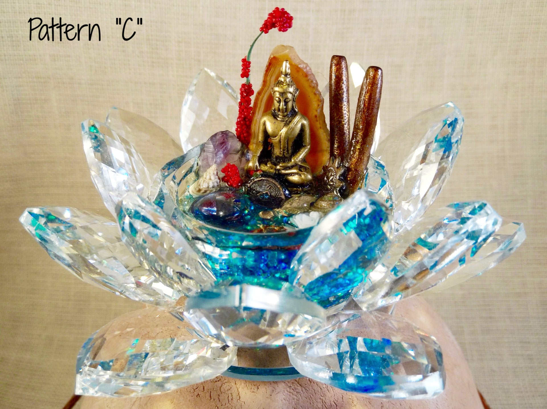 Small Crystal Lotus Serenity Now Pond