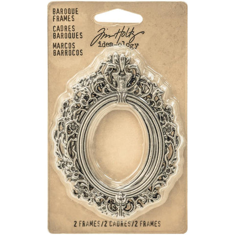TIM HOLTZ: Idea-ology Metal Baroque Frames 2/pk