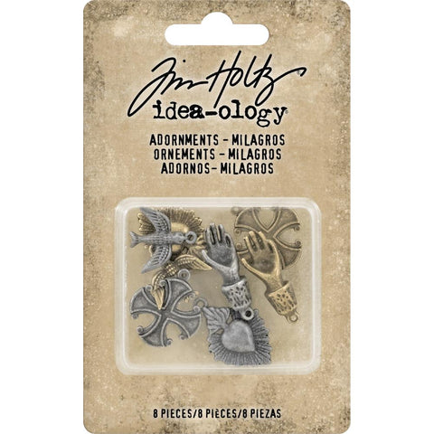 TIM HOLTZ: Idea-ology Metal Adornments Milagros 8pc