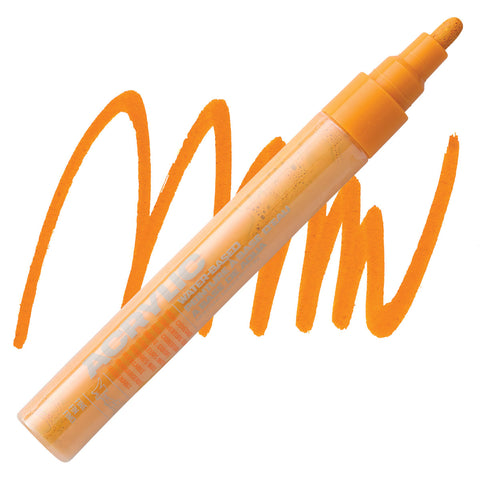 MONTANA: 2mm Fine Nib Acrylic Paint Marker (Shock Orange Light)